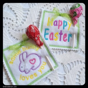 Easter Lollipop Holder Machine Embroidery Designs
