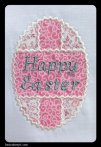 Embroidery It Happy Easter Patchwork Egg 1