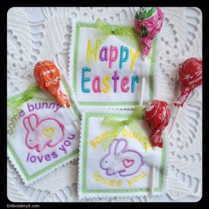 Embroidery it Easter Lollipop Holder 4