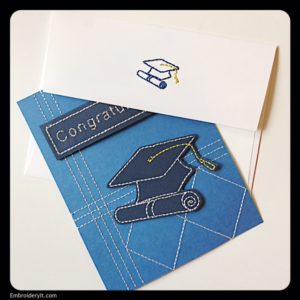 Embroidery It Graduation Card 3
