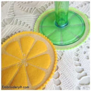 Embroidery It Citrus Coasters 6