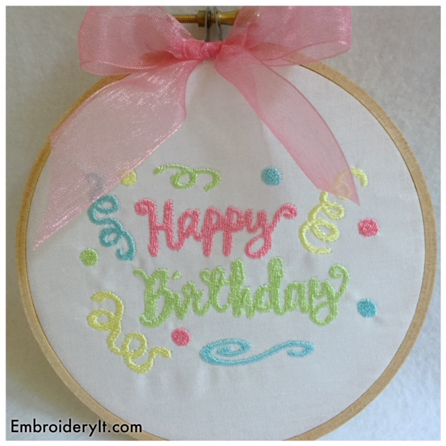 Embroidery It Birthday Party Day 5