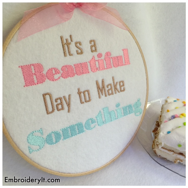 Embroidery It Birthday Party Day 6