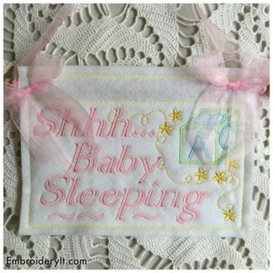 Embroidery It Baby Sleeping 1