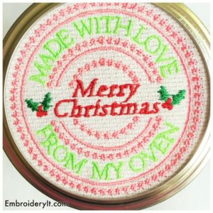 Embroidery It Christmas Mason Jar Lids 5