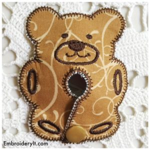Embroidery It Bear Feeding Tube Pad 1
