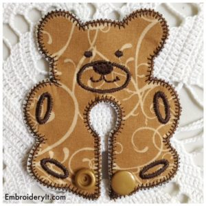 Embroidery It Bear Feeding Tube Pad 2