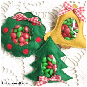 Embroidery It Christmas Candy HOlder 27