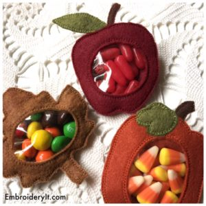 Embroidery It Fall Candy Holder