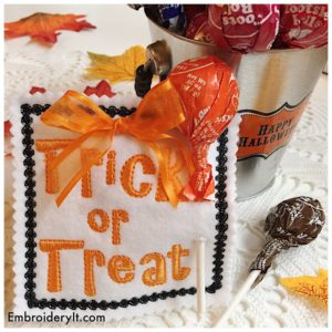 Embroidery It Halloween Lollipop Holder 10