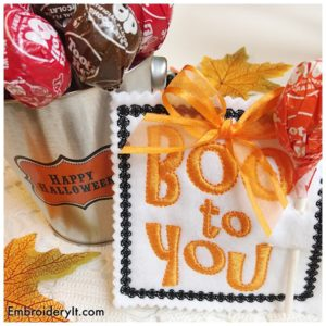 Embroidery It Halloween Lollipop Holder 12