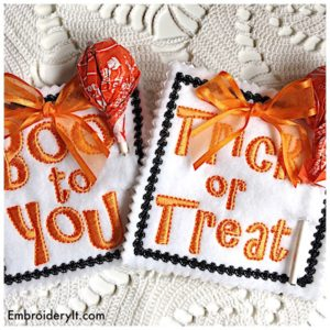 Embroidery It Halloween Lollipop Holder 14