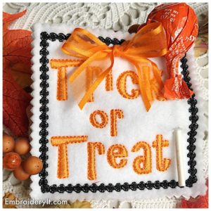 Embroidery It Halloween Lollipop Holder 9