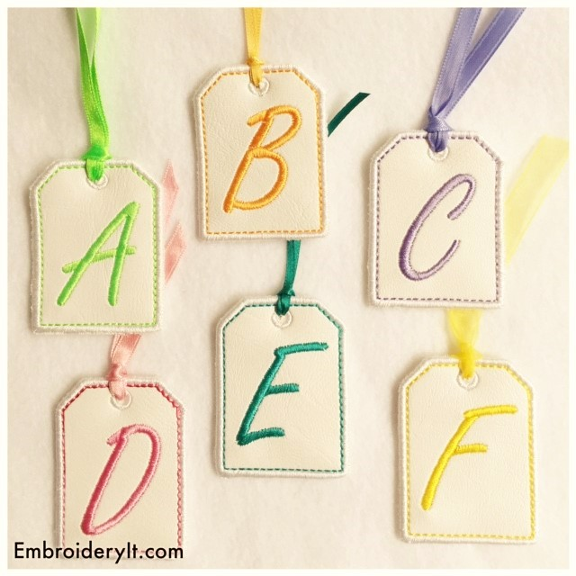 Free Machine Embroidery Designs Alphabet Tag Set
