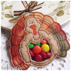 Embroidery It Turkey Candy Holder 2