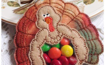 Thanksgiving Turkey Candy Holder