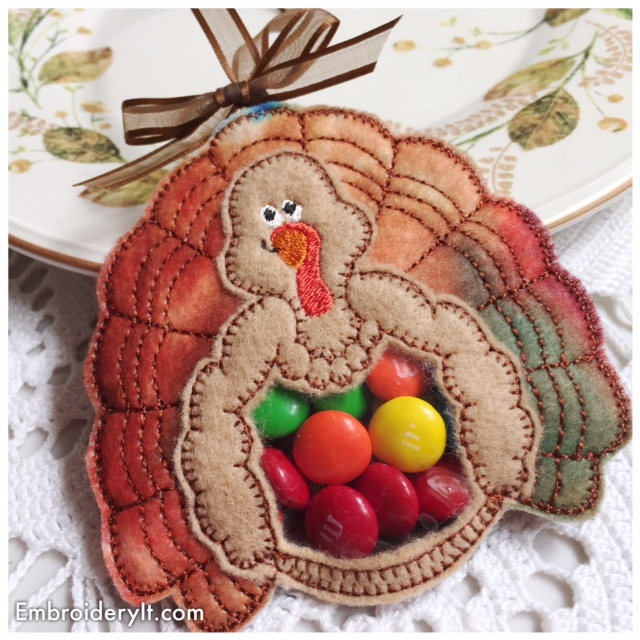 Thanksgiving Turkey Candy Holder