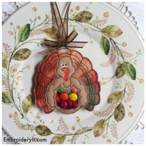Embroidery It Turkey Candy Holder 5