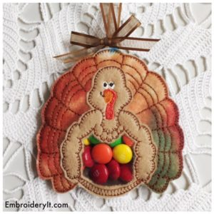 Embroidery It Turkey Candy Holder 6