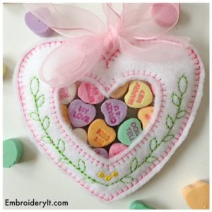 Embroidery It Valentine Candy Holder