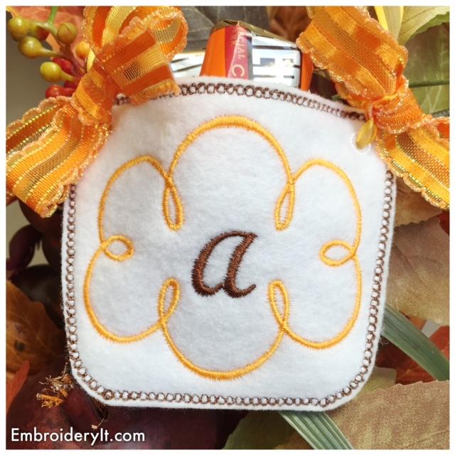 """Monogram Basket Letter """"A"""""""