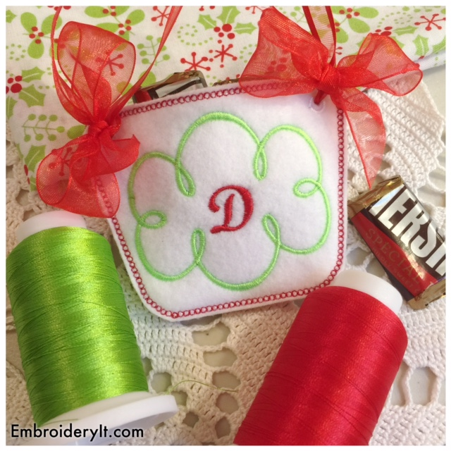 Machine Embroidery Monogram Basket D Intro Priced this Week Only