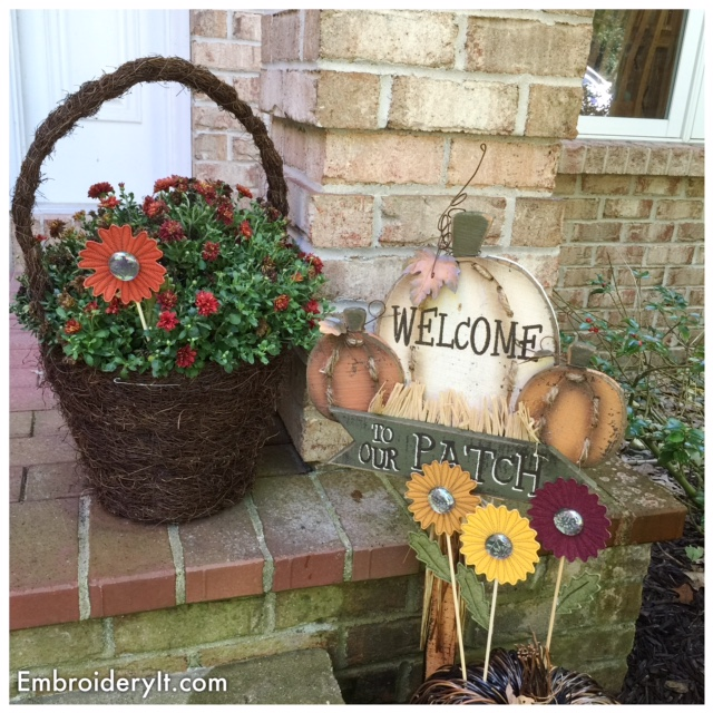 Crafting Machine Embroidery and Mixed Media Fall Flowers