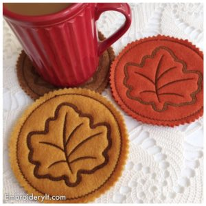 Embroidery It Maple Leaf Coaster 5