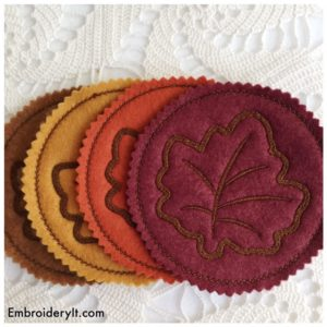 Embroidery It Maple Leaf Coaster 6