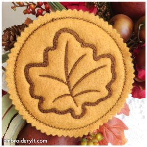 Embroidery It Maple Leaf Coaster 7