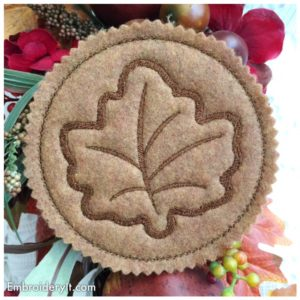 Embroidery It Maple Leaf Coaster 8