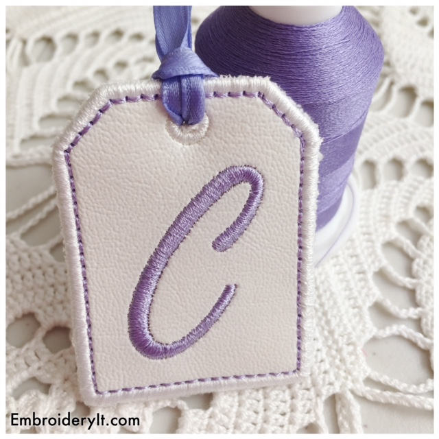 Free Letter C Machine Embroidery In the hoop Design - Embroidery It