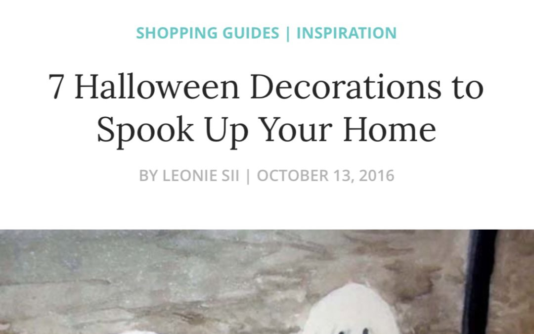 Embroidery It Featured in Zibbets Halloween Decoration Ideas