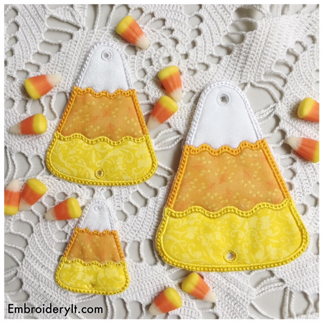 NEW – Candy Corn Embroidery JAM set and How to Make Wall Pictures