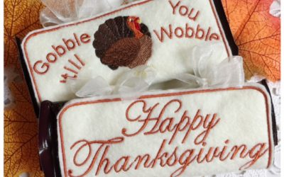 Machine Embroidery Full Size Candy Bar Wrappers for Thanksgiving