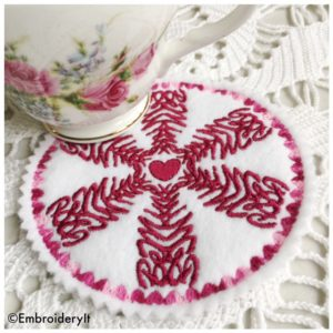 Free Machine Embroidery Patter for Valentine's Day