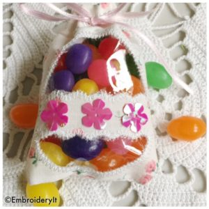 Machine Embroidery in the hoop Easter Egg treat holder