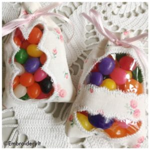 Machine Embroidery ITH Easter Treat Bags