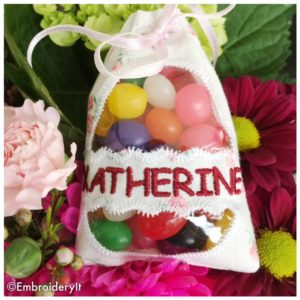 Machine Embroidery Easter Egg Treat Bag