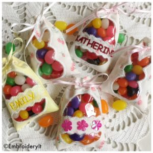 Machine Embroidery In the hoop Easter Candy Bags