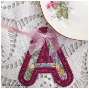 Machine Embroidery Free Banner Alphabet Letter A