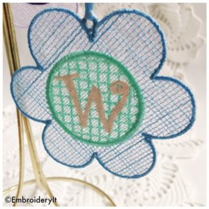 Machine Embroidery Monogram Free Standing Lace Set