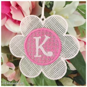 Machine Embroidery Free Standing Lace Monogram Alphabet Set