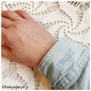 Machine Embroidered Sleeve Cuff