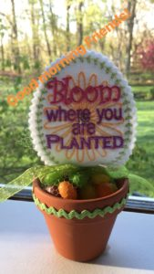 Bloom machine Embroidery Candy Topper