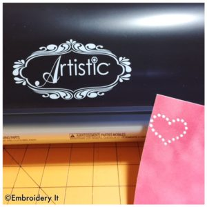 Cutting a rhinestone pattern with the Janome Artistic Edge
