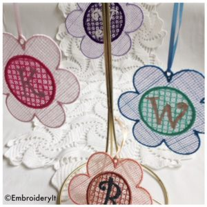 Machine Embroidery Lace Alphabet Set