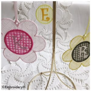 Machine Embroidery Free Standing Lace Monogram Set