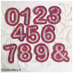 Machine Embroidery Banner Number Set