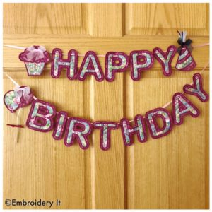 Happy Birthday Machine Embroidery Party with new and free designs